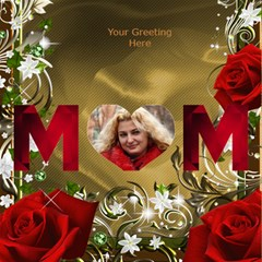 Loving Mother 3d Card By Deborah   Mom 3d Greeting Card (8x4)   7cg4adehlm6j   Www Artscow Com Inside