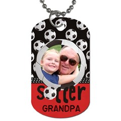 Tags/grandpa By Christine Manausa   Dog Tag (two Sides)   Pjawebfunl0c   Www Artscow Com Front