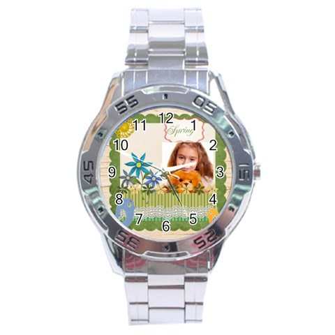 Spring By Joely   Stainless Steel Analogue Watch   A5lo2tktvnzb   Www Artscow Com Front