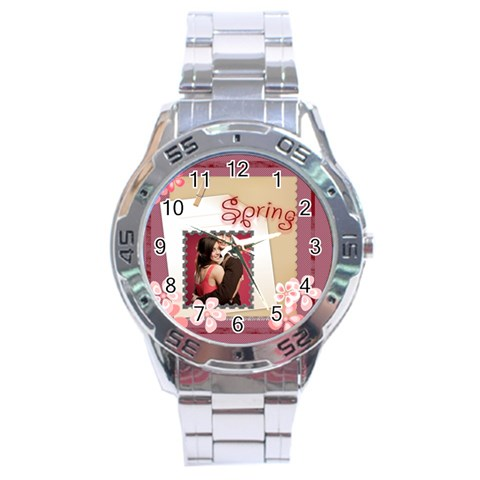 Spring Of Love By Joely   Stainless Steel Analogue Watch   Qw1jm1h8o3og   Www Artscow Com Front