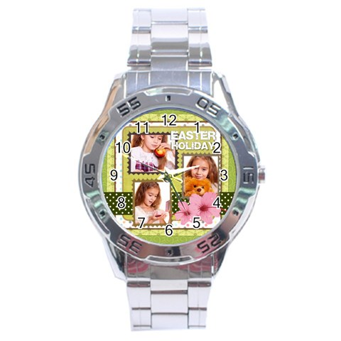 Spring By Joely   Stainless Steel Analogue Watch   Ovj1xtxw8chf   Www Artscow Com Front