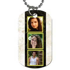 Gold 6 Frame Dog Tag  (2 Sided) By Deborah   Dog Tag (two Sides)   Kj07bpptddcq   Www Artscow Com Front
