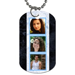 Blue Marble 6 Frame Dog Tag  (2 Sided) By Deborah   Dog Tag (two Sides)   Tlhichq6qzlm   Www Artscow Com Front