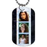 Blue Marble 6 Frame dog tag  (2 sided) - Dog Tag (Two Sides)