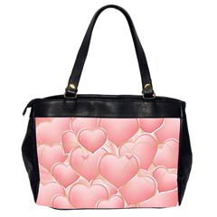 Pink Hearts Oversized Office Bag (2 Sided) By Deborah   Oversize Office Handbag (2 Sides)   97crzz255jew   Www Artscow Com Back