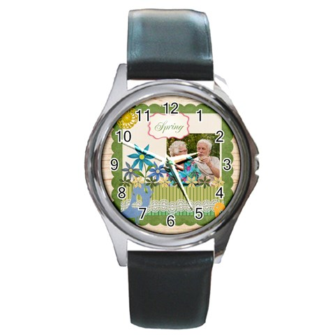 Spring By Joely   Round Metal Watch   Mn4jt9324any   Www Artscow Com Front