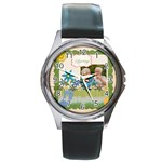 spring - Round Metal Watch
