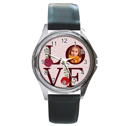 Love By Joely   Round Metal Watch   62nh1fggxqnk   Www Artscow Com Front