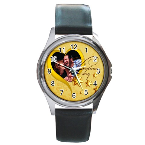 Love By May   Round Metal Watch   2j26x9n0dvsv   Www Artscow Com Front