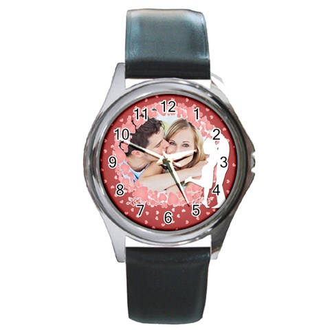 Love By May   Round Metal Watch   Wbbiqcogja8u   Www Artscow Com Front