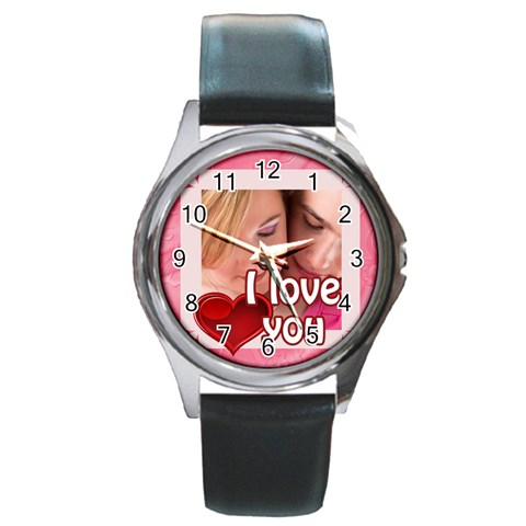 Love By May   Round Metal Watch   Qrg5dfom2mia   Www Artscow Com Front