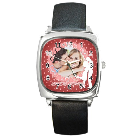 Love By May   Square Metal Watch   U81gdhozszzn   Www Artscow Com Front