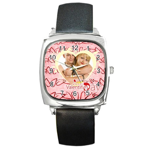 Love By May   Square Metal Watch   Lo2gygds2ook   Www Artscow Com Front