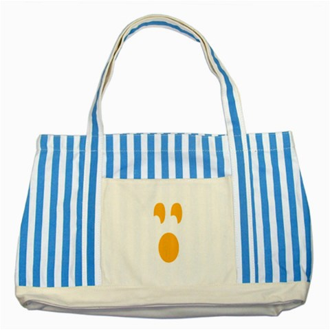 Halloween By Divad Brown   Striped Blue Tote Bag   T2gxaiyupr8m   Www Artscow Com Front