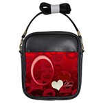 I Heart You red girls sling bag