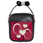 I Heart You pink girls sling bag