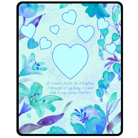 My Baby Med Blanket By Birkie   Fleece Blanket (medium)   Hmt7dn1rumh2   Www Artscow Com 60 x50 Blanket Front