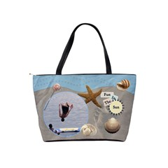 Sea Shells Classic Shoulder Handbag By Lil    Classic Shoulder Handbag   Gbvld78188vc   Www Artscow Com Back