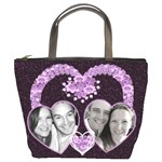 Purple Heart bag - Bucket Bag