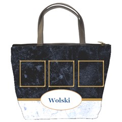 Blue And Marble Bucket Bag By Deborah   Bucket Bag   Gxpjpquzde0a   Www Artscow Com Back