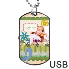 Spring By Joely   Dog Tag Usb Flash (two Sides)   Vi6gzh2576nn   Www Artscow Com Front