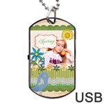 spring - Dog Tag USB Flash (Two Sides)