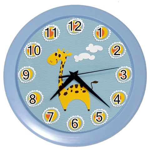 Ceas 6 By Boryana Mihaylova   Color Wall Clock   3b2p7squi7nm   Www Artscow Com Front