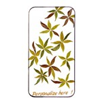 Multi Gold flowers iPHONE 4 s CaseART - orignal art on hard shell case to protect your iPHONE  - Apple iPhone 4/4s Seamless Case (Black)