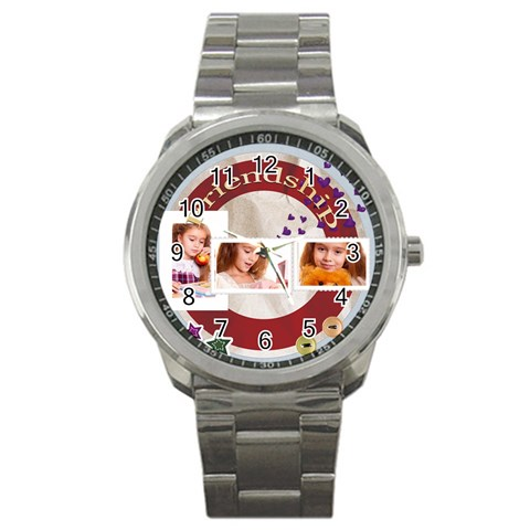 Friendship By Joely   Sport Metal Watch   9dqm94upu3sd   Www Artscow Com Front