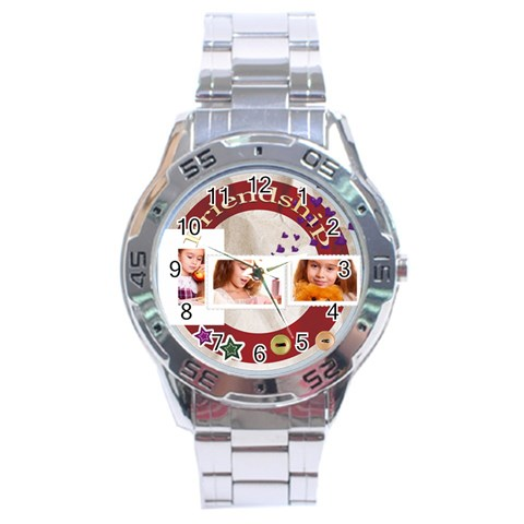 Friendship By Joely   Stainless Steel Analogue Watch   Izw34dmx97yk   Www Artscow Com Front