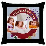 friendship - Throw Pillow Case (Black)
