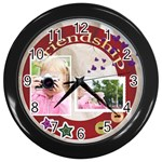friendship - Wall Clock (Black)