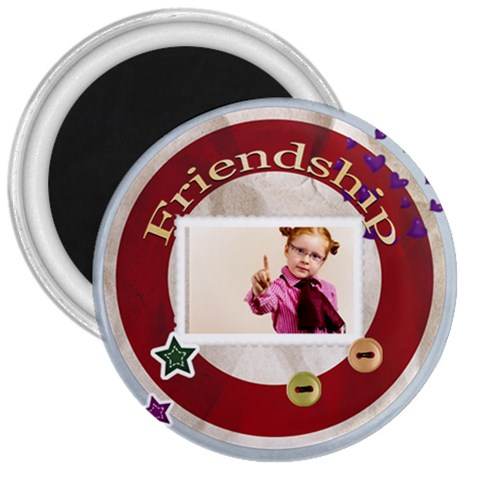 Friendship By Joely   3  Magnet   X9non7dnuuje   Www Artscow Com Front