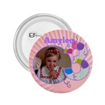 3 Birthday girl Button 2.25 - 2.25  Button