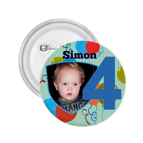 4 Birthday Boy Button 2 25 By Deborah   2 25  Button   Do1cud89i2ox   Www Artscow Com Front