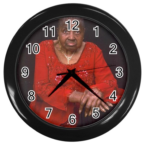 By Lynette Pierce   Wall Clock (black)   Z2pxkexsut1u   Www Artscow Com Front