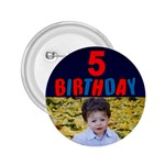 Birthday 5 Boy button 2.25 - 2.25  Button