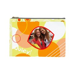 Juicy! By Mierrsur   Cosmetic Bag (large)   3j55siq73mpe   Www Artscow Com Front