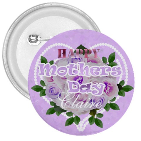 Purple And Pink Mothers Day Pin By Claire Mcallen   3  Button   Nc9tjbkdns7q   Www Artscow Com Front