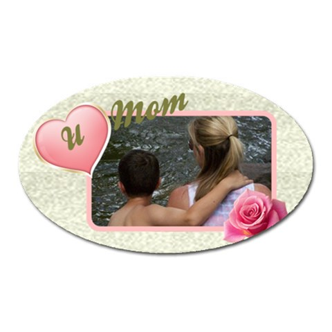 Love You Mum/mom Oval Magnet By Deborah   Magnet (oval)   V5n0xevhvydt   Www Artscow Com Front