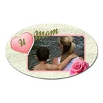 Love you Mum/Mom Oval magnet - Magnet (Oval)