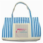 Square Root of all Evil Striped Blue Tote Bag