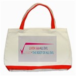 Square Root of all Evil Classic Tote Bag (Red)