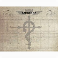 Fma Calendar By Krystal   Wall Calendar 11  X 8 5  (12 Months)   0ajhowbjvil7   Www Artscow Com Oct 2012