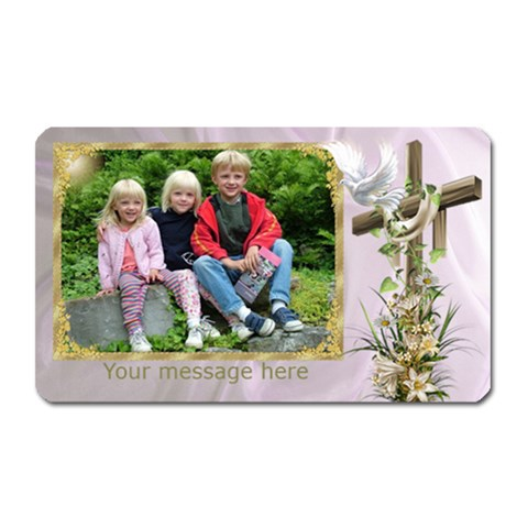 The Cross Rectangle Magnet By Deborah   Magnet (rectangular)   Effax2ctlxk6   Www Artscow Com Front