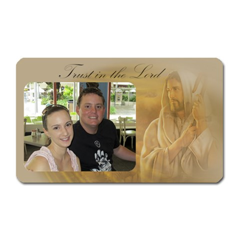 Trust In The Lord Magnet By Deborah   Magnet (rectangular)   Ko8sur2tqvjn   Www Artscow Com Front