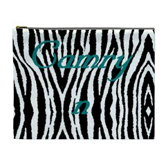 Camryn Zebra Bag By Sherry Olford   Cosmetic Bag (xl)   W3a1t4oe89rf   Www Artscow Com Front