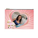Pink Heart Cosmetic Bag (Large)