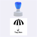 Umbrella Stamp - Rubber Stamp Round (Medium)