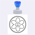 Flower Stamp - Rubber Stamp Round (Large)